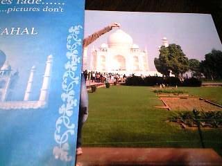 タージマハルでプロのカメラマンに撮ってもらった写真